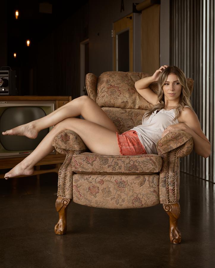 Vittoria in the lobby.