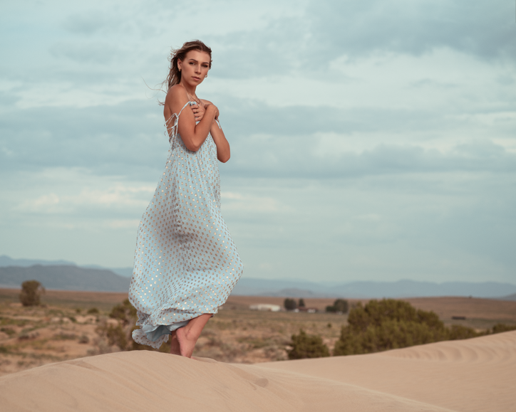 Vittoria blue dress again.